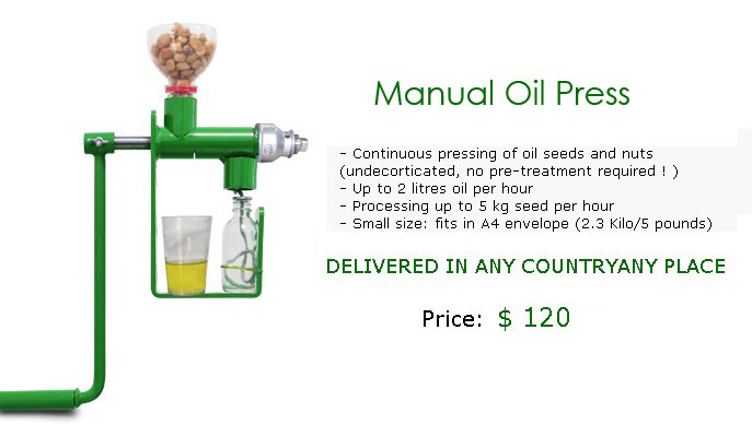 coconut manual oil press