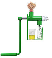 small manual sunflower oil press