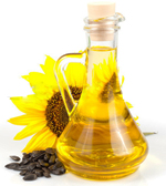 sunflower oil made by manual sunflower oil press